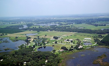 Aerial shot of Pine Lake Retreat Center, FL